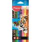 Карандаши цветные Maped Color`Peps 832212 12цв. декорированные карт.кор.