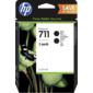 Cartridge HP 711,  упаковка 2 шт.,  струйные картриджи DesignJet,  2*80 мл для DJ T120 / T520  (2 шт. CZ133A),  черные