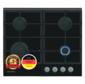 Schaub Lorenz SLK GY6221 60см,  газовая,  стеклокерамика,  независимая,  автоподжиг,  газ-контроль,  1 WOK конфорка,  жиклёры для баллонного газа,  чугунная решетка,  черная