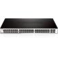 D-Link DGS-1210-52MPP / E1A,  Gigabit Smart Switch with 48 10 / 100 / 1000Base-T PoE ports and 4 Gigabit SFP ports