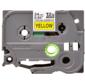 Наклейка ламинированная повышенной адгезии TZ-ES651  (24 мм черн / желт,  аналог TZ-S651)