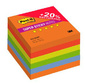 Блок самоклеящийся бумажный 3M Post-it Super Sticky 654-6SSRP Огонь Плюс 7100091463 76x76мм 90лист. ассорти 5цв.в упак.  (упак.:6шт)