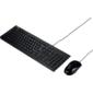 KEYBOARD+MOUSE U2000 WIRED USB / Black / RU / 10PCS