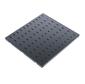 Полка перфорированная,  глубина 390 мм,  цвет черный