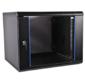 Шкаф телекоммуникационный настенный разборный ЭКОНОМ 12U  (600  650) дверь стекло,  цвет черный