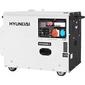 Генератор дизельный HYUNDAI DHY 6000SE-3 двигатель HYUNDAI D400,  4-х такт,  10 л.с.,  418см3,  max 5, 5 кВт / nom 5, 0кВт,  230В / 50Гц,  запуск ручной / электро,  158 кг