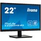 "Монитор жидкокристаллический Iiyama Монитор LCD 21.5"" 16:9 1920х1080 TN,  nonGLARE,  250cd / m2,  H170° / V160°,  1000:1,  80M:1,  16.7M Color,  1ms,  VGA,  HDMI,  DP,  Tilt,  Speakers,  3Y,  Black"