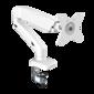 Кронштейн для мониторов ONKRON /  13-27'' ГАЗЛИФТ макс 100*100 наклон -45? / +90?,  поворот +-90°,  2 колена,  от стены: до 450мм,  крепление к столу 10-85мм,  вес до 6.5кг,  белый