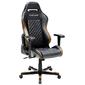 DXRacer OH/DF73/NC Компьютерное кресло игровое Drifting series, цвет черный с коричневыми вставками, нагрузка 120кг. Мятая упаковка!