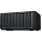 Synology DS1819+  QC2, 1GhzCPU / 4GbDDR4 (upto32) / RAID0, 1, 10, 5, 5+spare, 6 / upto 8hot plug HDD SATA (3, 5' or 2, 5') (upto18 with 2xDX517) / 4xUSB3.0 / 2eSATA / 4GigE (+1Expslot) / iSCSI / 2xIPcam (upto40) / 1xPS / 3YW