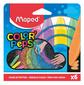 Мел цветной Maped 936010 Color`Peps асфальт. 6цв. прямоугольный картон.коробка