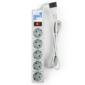 Power Cube SPG-B-6Ext Сетевой фильтр,  1.9m,  5 розеток,  UPS plug тип IEC C14,  серый