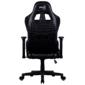 Кресло для геймера Aerocool AC220 AIR-B,  черное,  с перфорацией,  до 150 кг,  размер,  см  (ШхГхВ) : 66х63х125 / 133.