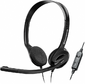 Sennheiser стерео накладная 42-17000Гц 2м USB 95дБ круговая диаграмма направленности 90-15000Гц регулятор громкости