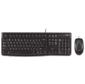 Logitech Desktop MK120,  Black  (USB,  keyboard: waterproof,   mouse: optical,  1000dpi,  3btn+Scroll) Retail