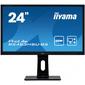 Монитор жидкокристаллический Iiyama Монитор LCD 24'' [16:9] 1920х1080 (FHD) TN,  nonGLARE,  250cd / m2,  170° / 160°,  1000:1,  80M:1,  16.7M,  1ms,  VGA,  HDMI,  DP,  Pivot,  Tilt,  Swivel,  Speakers,  3Y,  Black
