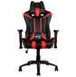 Кресло для геймера Aerocool AC120 AIR-BR,  черно-красное,  с перфорацией,  до 150 кг,  размер 70х55х124 / 132 см