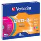 Диск DVD-R 4.7ГБ 16x Verbatim 43557 AdvancedAzo+ Slim,  цветные  (5шт. / уп.)