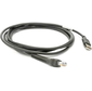USB Cable: Series A Connector,  7Ft. 2.1M,  Straight