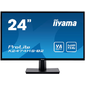 Монитор жидкокристаллический Iiyama Монитор LCD 23.6'' [16:9] 1920х1080 (FHD) VA,  nonGLARE,  250cd / m2,  H178° / V178°,  3000:1,  80M:1,  16.7M,  4ms,  VGA,  HDMI,  DP,  Tilt,  Speakers,  3Y,  Black