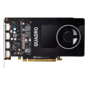PNY Nvidia Quadro P2200 5GB PCIE 2xDP 160-bit DDR5 1024 Cores 4xDP to DVI-D  (SL) adapter,  Bulk