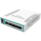 MikroTik CRS106-1C-5S Коммутатор Cloud Router Switch with QCA8511 400MHz CPU,  128MB RAM,  1x Combo port  (Gigabit Ethernet or SFP),  5 x SFP