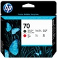 HP 70 Matte Black and Red Printhead
