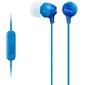 Sony MDREX15APLI.CE7 1.2м Гарнитура вкладыши проводные  (в ушной раковине) синие