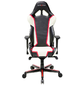 DXRacer OH/RH110/NWR_ Компьютерное кресло игровое Racing series, цвет черный с красно-белыми вставками, нагрузка 120кг. Мятая упаковка!