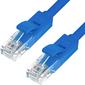 Greenconnect GCR-LNC01-5.0m Патч-корд прямой 5.0m, UTP кат.5e, синий, позолоченные контакты, 24 AWG, литой, , ethernet high speed 1 Гбит/с, RJ45, T568B