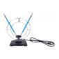 RITMIX RTA-010 Пассивная,  комнатная,  усиление 5 дБ,  DVB-T,  DVB-T2,  ISDB-T,  DMB-T / H,  ATSC,  DAB  (радио),  VHF:87.5-230 МГц ; UHF:470-862 МГц; FM:  87, 5-108 МГц