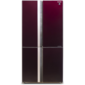 Холодильник Sharp /  183x89.2x77.1 см,  объем камер 394+211,  No Frost,  морозильная камера снизу, темно-бордовый