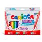 Фломастеры Carioca Birello 41521 24цв. двусторонние пакет с европодвесом