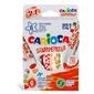 Фломастеры Carioca STAMPERELLO 42279 двусторонние со штампами 6цв. коробка с европодвесом