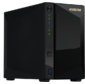 ASUSTOR AS4002T 2-Bay NAS / CPU  (2Core) / 2Gb / noHDD, LFF (HDD, SSD) / 1x1GbE (LAN) / 2xUSB3.1 ; 90IX0151-BW3S10