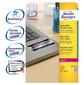 Этикетки Avery Zweckform L6011-20 A4 63.5x29.6мм 27шт на листе / 196г / м2 / 20л. / серебристый самоклей. для лазерной печати
