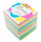 Блок для записей бумажный Silwerhof Премиум 701028 90х90х90мм 80г / м2 4цв.в упак.