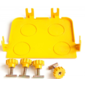 Заглушка Lanmaster LAN-OT120-ND жёлтый