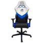 DXRacer OH/RZ32/WNB_ Компьютерное кресло игровое Racing series, цвет черно-белый с синими вставками, нагрузка 123кг. Мятая упаковка!