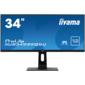 "Монитор Iiyama 34"" ProLite XUB3493WQSU-B1 черный IPS LED 5ms 21:9 HDMI M / M матовая HAS Pivot 400cd 178гр / 178гр 3440x1440 DisplayPort USB 8.5кг"