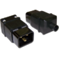 Вилка Lanmaster IEC 60320 C20 16A 250V разборная черная
