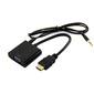 ORIENT Кабель-адаптер C100 HDMI M -> VGA 15F+Audio,  для подкл.монитора / проектора к выходу HDMI,  длина 0.2 метра,  аудиокабель в комплекте