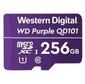 Флеш-накопитель WD Карта памяти WD Purple SC QD101 Ultra Endurance MicroSDXC WDD256G1P0C 256ГБ Class 10 UHS 1  (U1) для видеонаблюдения