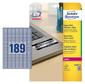 Этикетки Avery Zweckform L6008-20 A4 25.4x10мм 189шт на листе / 196г / м2 / 20л. / серебристый самоклей. для лазерной печати