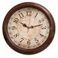 Часы настенные аналоговые Бюрократ WallC-R77P коричневый