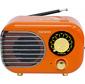 Радиоприемник настольный Telefunken TF-1682UB оранжевый / золотистый USB microSD